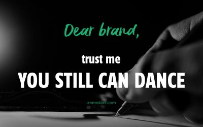 Dear Brand, trust me, you still can dance.